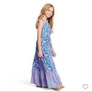 Girls My Fans Sleeveless Lilly Pulitzer Maxi Dress